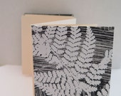 Blank journal sketch note Zig Zag Accordion book Original botanical monoprint cover by Stef Mitchell 200gsm cream paper wedding gift Ferns