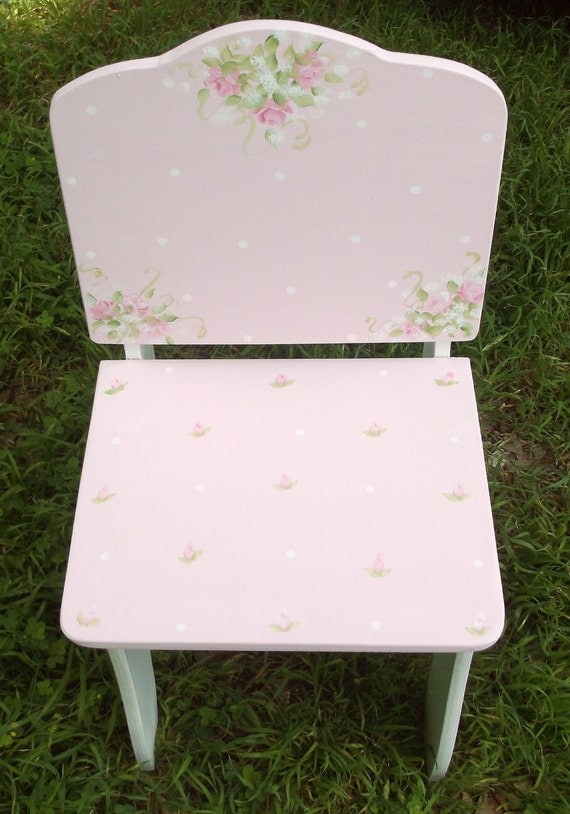 Kids Chairs Pink Roses Chic Posh Chair Kids By Spoiltrottn