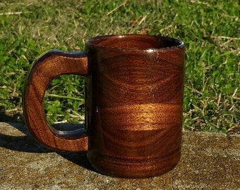 Handcrafted Wood Coffee 8oz Mug Walnut - Coffee Cup - Wood Coffee Mug - Coffee Mug - Walnut Mug