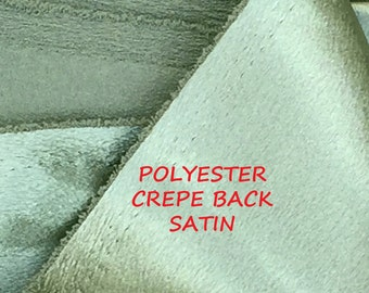 1-1/2 YARDS, Sage Green, Crepe Back Satin, Fashion or Lining Fabric, Medium Weight Polyester, B30
