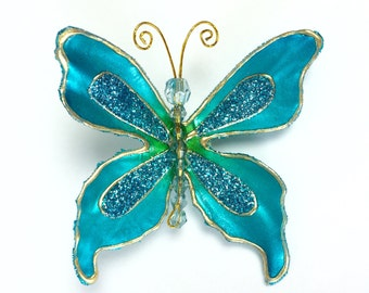 Blue Butterfly Hair Clip, Butterfly Hair Fascinator, Teen Girl Hair Clip, Women's  Hair Clip, Fashion Hair Clip, Free Shipping, Gift for Her