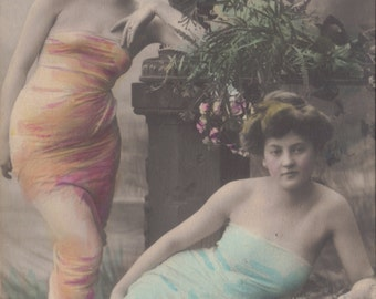 Two Ladies (Heinrich Traut?) Jugendstil Era Image by NPG, circa 1910