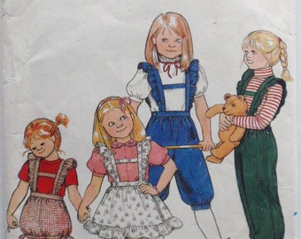 Little Girl's Overalls and Jumper Sewing Pattern - Butterick 4310 - Size 5, Breast 24