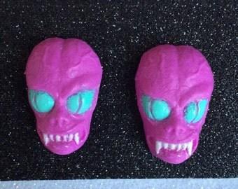 Saucer Men Monster Alien Resin Earrings