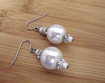 Wedding Earrings, Pearl Earrings