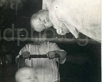 Vintage Photo, Baby in Pram, Black & White Photo, Found Photo, Old Photo, Vernacular Photo, Antique Photo, Baby Picture      Jones153.jpg