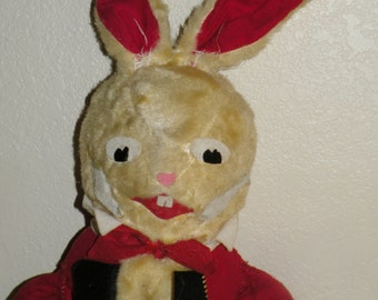 1940s 27 Inch Plush Easter Bunny Stuffed Toy