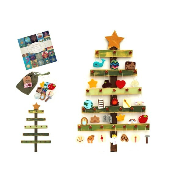 Felt Christmas Tree Advent Calendar: Deluxe Felt Heirloom Jesse Tree Advent Ornament By