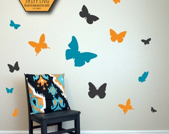 BUTTERFLY Wall Decal / butterflies wall decal, wall decal butterfly, wall decals nursery, kids wall decal, butterfly stickers, baby decal