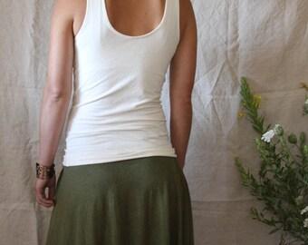 Reversible Scoop Back Tank-Organic Cotton and Hemp