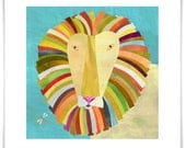 Colorful Lion Art Print
