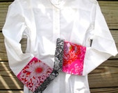 Bell Sleeve w Pink Mum and Black Floral; LB21