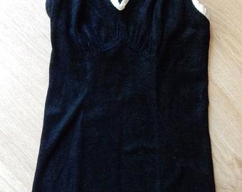 1950s Jantzen Blue & White One Piece Swimsuit Sz 36
