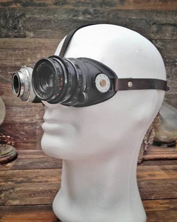 RESERVED Steampunk Camera Goggles (for kirkusmaximus)