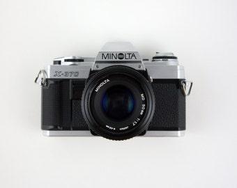 Minolta X-370 35mm SLR Camera + Minolta MD 50mm Lens