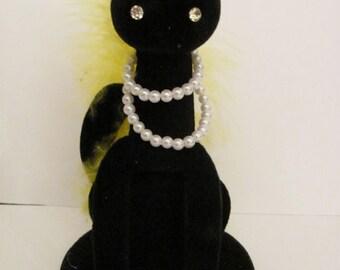 Kitschy 1960's Vintage  Black Cat - Halloween Ornament- Max Factor Hypnotique Sophisticat - Original Case - Excellent Condition -