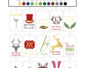 Christmas & Holiday Personalized Gift Tags - Set of 24