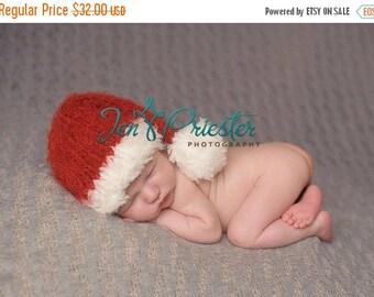 newborn santa hat.....  Baby Santa hat..knit hat..photography prop.... photo prop..Newborn photo prop..25% off at checkout with code SEPT1