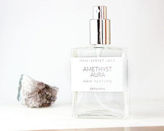 Amethyst Aura Hair Perfume | Jasmine + Rose | 100% natural, vegan and organic