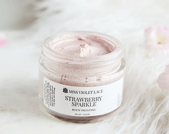 Strawberry Shimmer Whip | Body Frosting - Whipped Shimmer Cream | 100% natural and vegan
