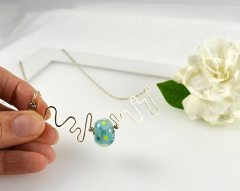 SALE Items - Short Necklace, Light Blue Necklace, Sky Blue Glass Necklace, Statement Necklace, Gifts for her, Australian Jewellery