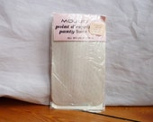 "RESERVED 60s Panty Hose - Mojud Pearl Gray Nylons - Point d'Esprit - Unworn in Package - Size Average 5'4"" to 5'7"""