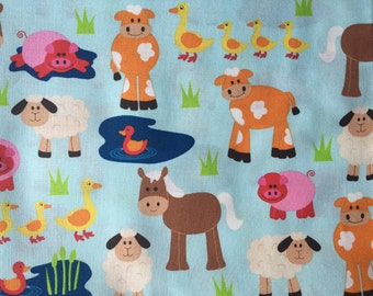 Farm Baby Blanket, Animal Bedding, Minky Blanket, Baby Crib Bedding, Made to Order Blanket, Personalized Blanket