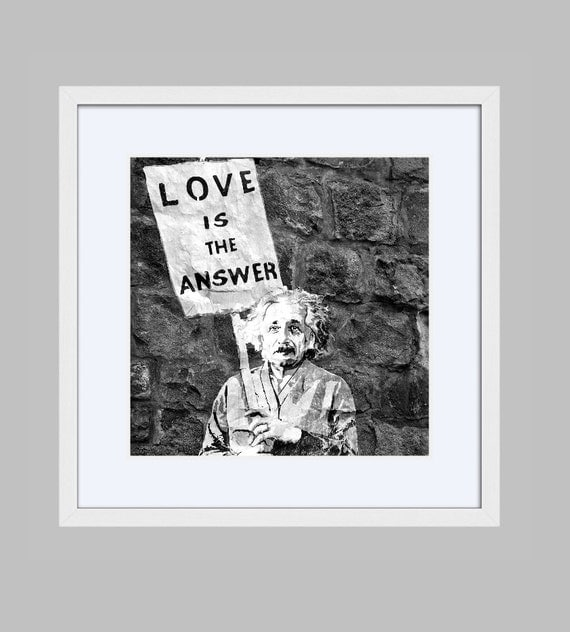 Framed Banksy Print Love Is The Answer Photograph