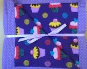 SALE - Purple Cupcakes Baby Blanket