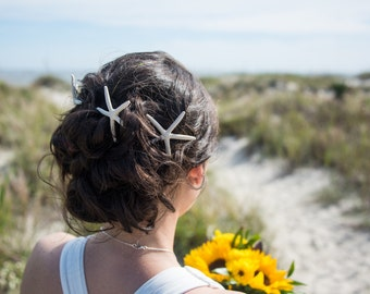 Starfish Hair Pin, Starfish Hair Accessory, Starfish Hair Clip, Starfish Hair Piece, Starfish Headpiece Mermaid Beach Wedding Beach Hair 004