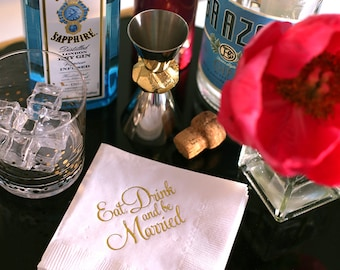 Eat, Drink and be Married -  Cocktail Napkins