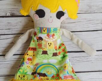 Softie Handmade Doll Hazel