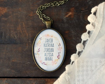 Custom Name Necklace - Grandmother's  Necklace - Grandchild Necklace -  Grandma Necklace - Mom Jewelry - Child Name Necklace