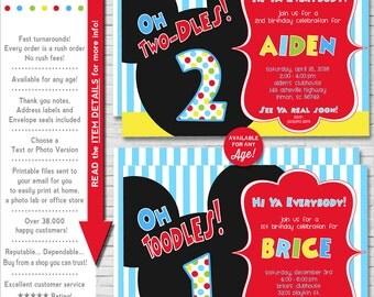 Mickey Mouse Invitation | Mickey Mouse Birthday Invitation | 1st Birthday | Mickey Mouse Printable Invitation | Amanda's Parties To Go