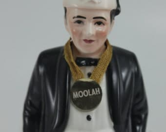 Vintage Moolah Shriner Masonic Freemason Fez Figurine Planter Ceramic Head Vase Mid Century Samson Relpo Import Japan