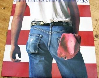 Vintage Bruce Springsteen Born In The USA 1984 Vinyl LP Record Vinyl Album