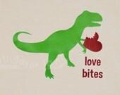 Boy Girl Valentines Shirt T Rex trex Heart Dinosaur Valentine Love Bites Red Hearts Vday Shirt -- TODDLER sizes