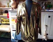 Vintage Ultra Glam Metallic Gold Jacket
