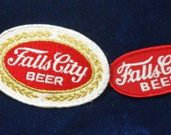 Falls City beer Set of two differentnever used shoulder patches