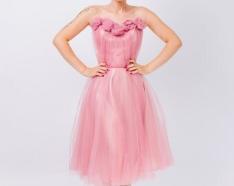 Lala (soft tulle roses dress)