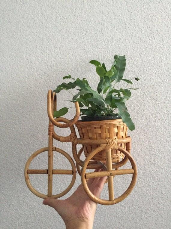 bamboo rattan plant stand / flower pot holder / planter
