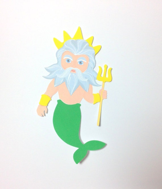 Mermaid king of the sea poseidon girls or boys fairytale for Mermaid arts and crafts