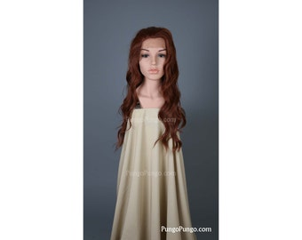 Red Wig / Long Curly Lace Front Wig / Everyday Black Widow Cosplay Mermaid Costume Red Witch Superhero Jean Grey Sansa Cosplay / Lady Series