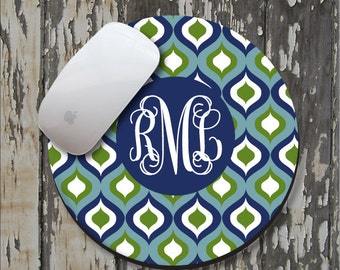 NAVY OGEE Personalized Mouse Pad, Personalized Mousepad, Monogrammed Mouse Pad, Monogrammed Mousepad, Custom Mouse Pad, Custom Mousepad