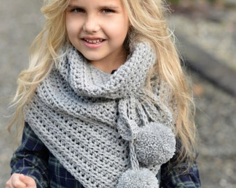 CROCHET PATTERN-The Pennon Shawl (toddler, child, adult sizes)