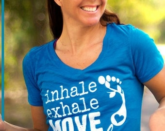 LARGE TURQUOISE move miles tee, running