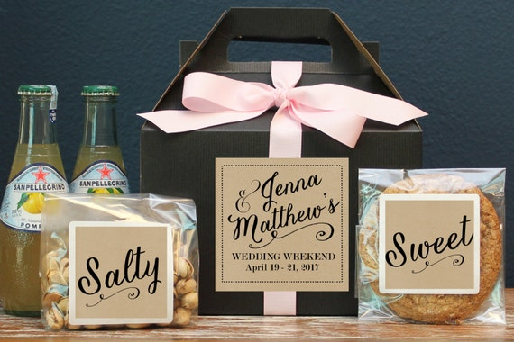 Gift Boxes For Out Of Town Wedding Guests : Set of 6 - Out of Town Guest Box // Wedding Welcome Box // Wedding ...