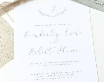 Romantic Coastal Wedding Invitations