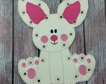 Bunny Lacing Card, Learning Game, Easter basket filler, Spring holiday stuffer