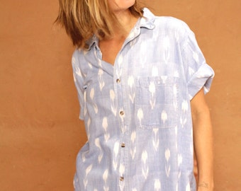 vintage IKAT southwest wild BAROQUE versace style shirt